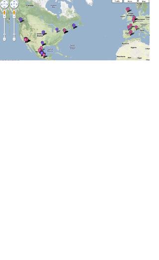 Swine Flu outbreak map Google Maps